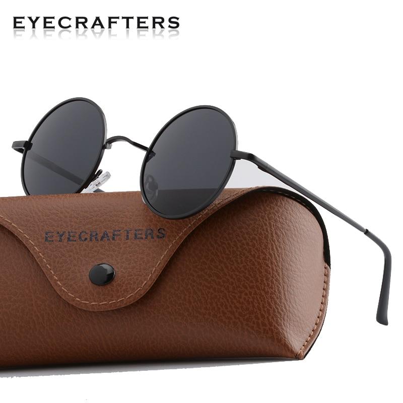Brand Designer Classic Round Polarized Sunglasses Men Small Vintage Retro John Lennon Sun Glasses Women Driving Metal Eyewear