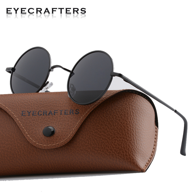 866a0aad510 Brand Designer Classic Round Polarized Sunglasses Men Small Vintage Retro  John Lennon Sun Glasses Women Driving