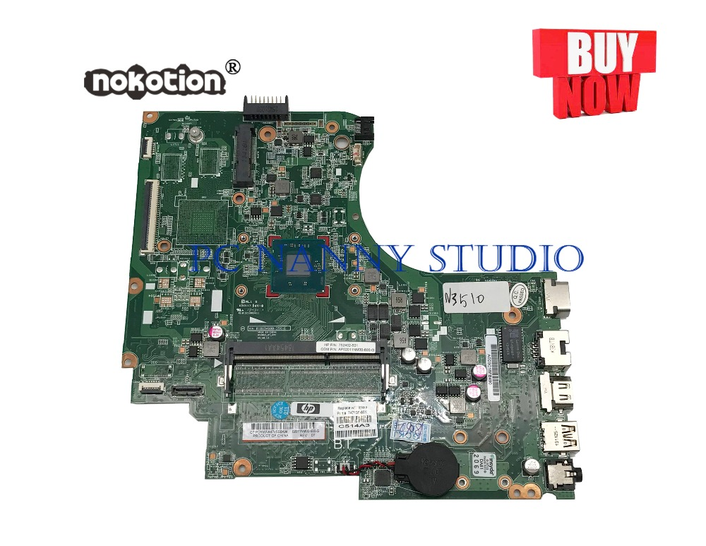 PCNANNY 747138-601 747138-001 for HP 15-d 250 255 Laptop Motherboard N3510 DDR3 tested