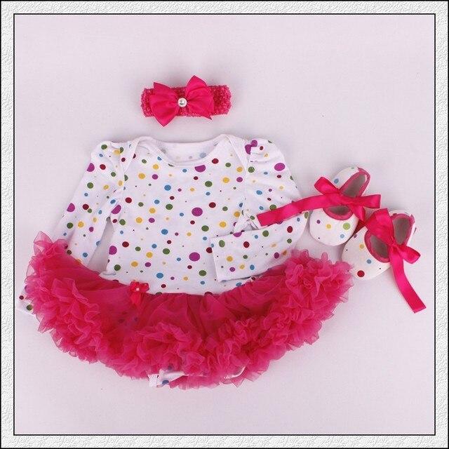 7d472b71c31f 3PCs per Set Infant Romper Colorful Polka Dots Baby Girls Long ...