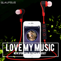 GLAUPSUS BT-50 Neckband Wireless Bluetooth Headphone Stereo Sports Earphone Earbuds Handfree Universal for iPhone 7 7 plus
