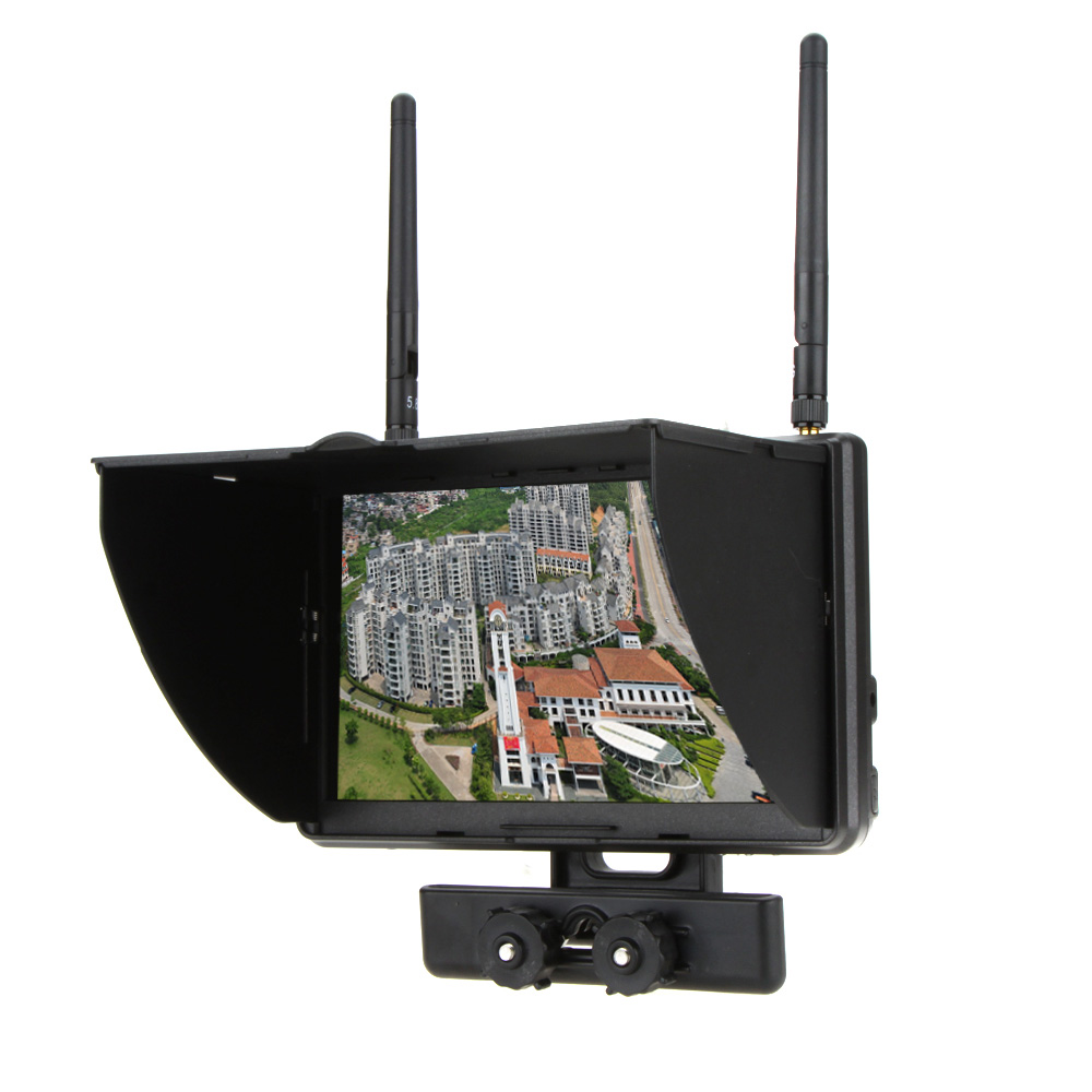 Boscam Galaxy D2 7 inch TFT FPV Monitor 5.8GHz LCD Screen Dual Receiver for RC FPV Quadcopter Part boscam galaxy d2 7 inch 800 480 tft lcd screen dual receiver 5 8ghz monitor built in battery for rc fpv helicopter