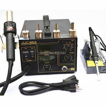 Gordak 952 SMD Rework Station Desoldering Station Hot Air Gun Heat Gun Electric iron 220v Free Shipping - DISCOUNT ITEM  10 OFF Tools