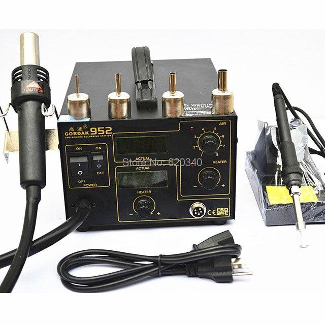 Gordak 952 smd محطة desoldering ل بندقية الهواء الساخن الحرارة بندقية الحديد الكهربائية 220 فولت مجانية