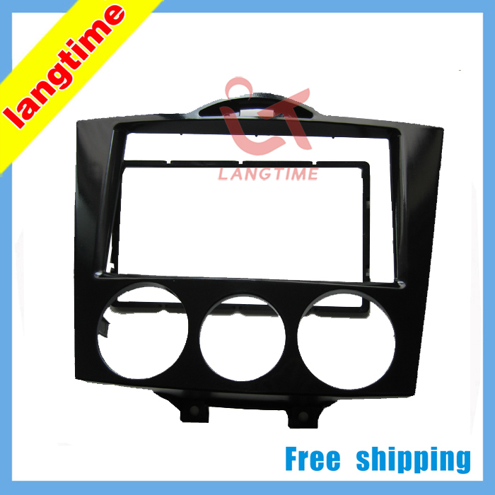 Free shipping-Car refitting DVD frame,DVD panel,Dash Kit,Fascia,Radio Frame,Audio frame for 03-09 Mazda RX8,2DIN