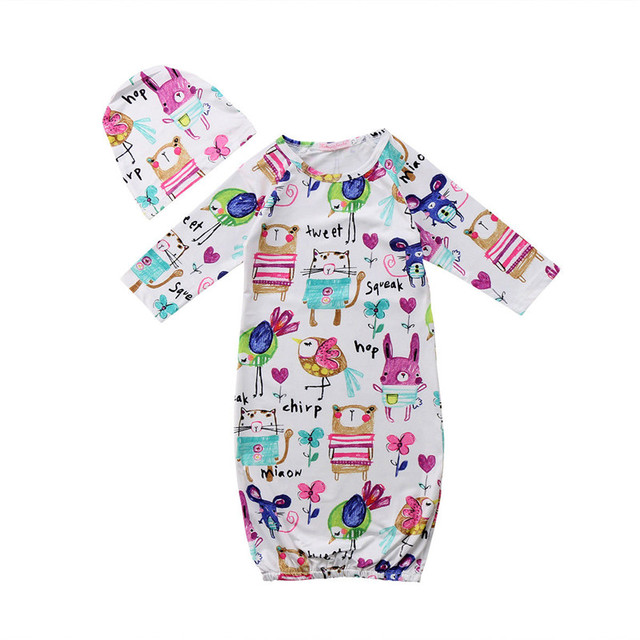 2pcs Clothes Set Newborn Baby Girl Boy Bedding Clothes Sleeping Bags ...