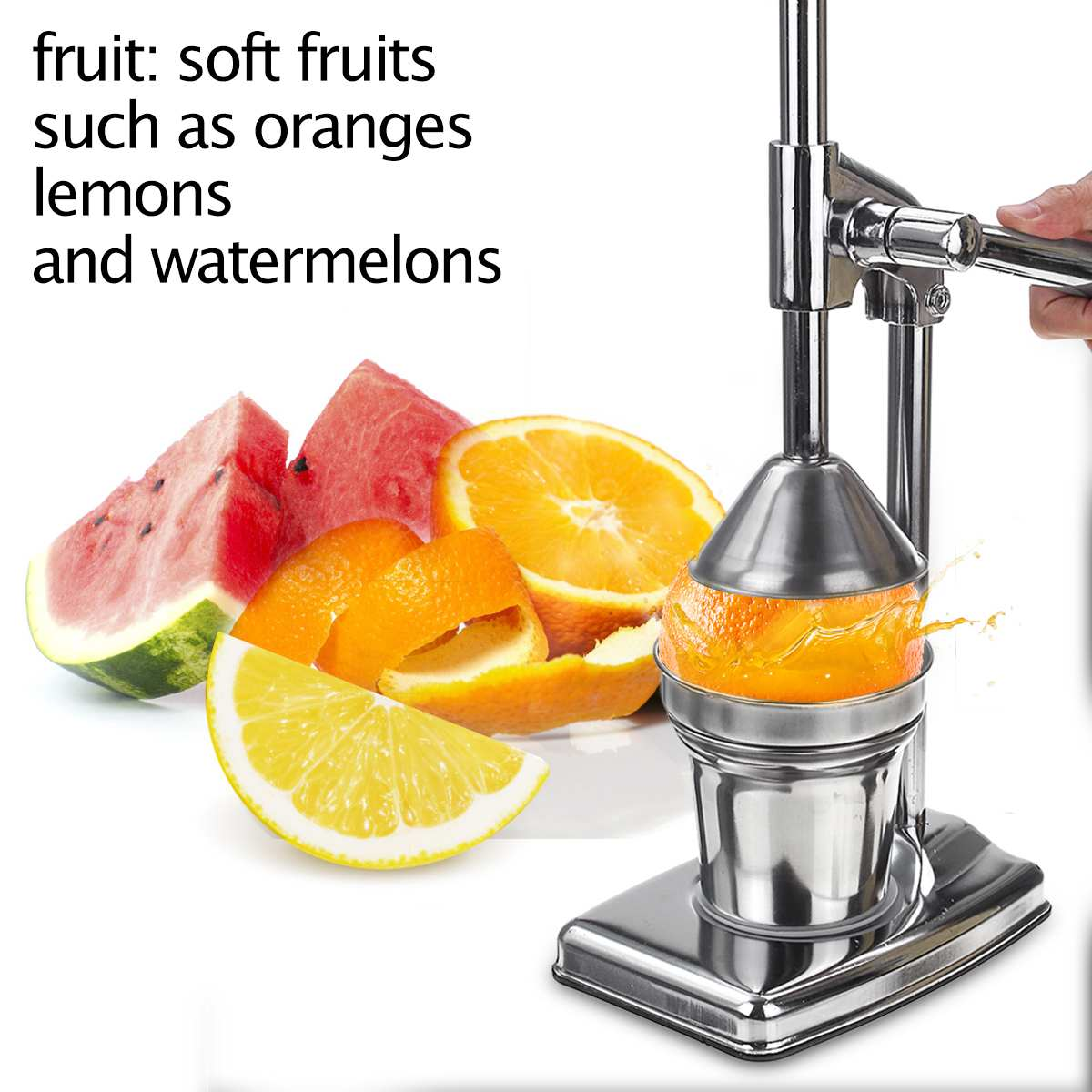 Stainless Steel Manual Lemon Squeezer Pomegranate Squeezer Hand Press Citrus Lemon Maker Orange Juicer Kitchen Tool