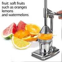 Stainless Steel Manual Lemon Squeezer Pomegranate Squeezer Hand Press Citrus Lemon Maker Orange Juicer Kitchen Tool