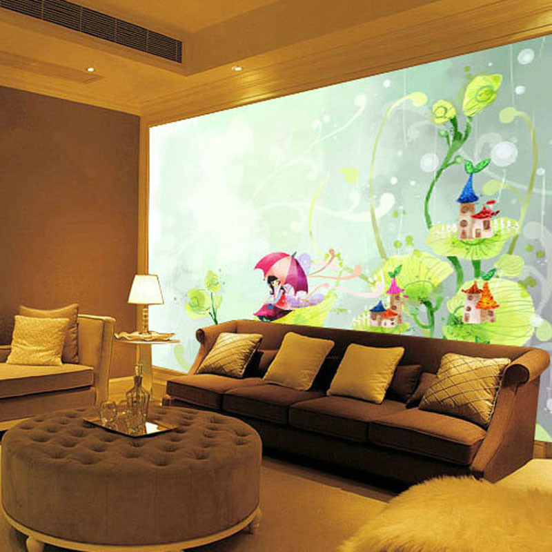 Free Shipping custom 3D stereo large wallpaper mural TV background children room bedroom cartoon fairy mural  free shipping 3d stereo angel rome column fantasy wallpaper mural custom dining room children room background wallpaper