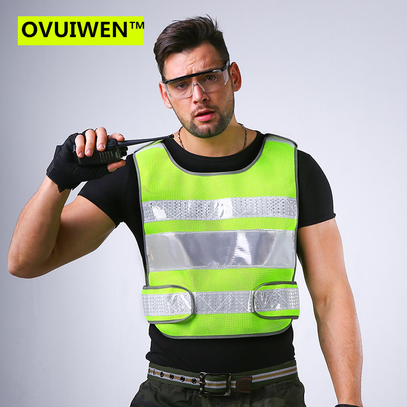 2018 NEW Unisex High Visibility Reflective Multi Pockets Construction Safety Vest Working Clothes Outdoor Safety Clothing