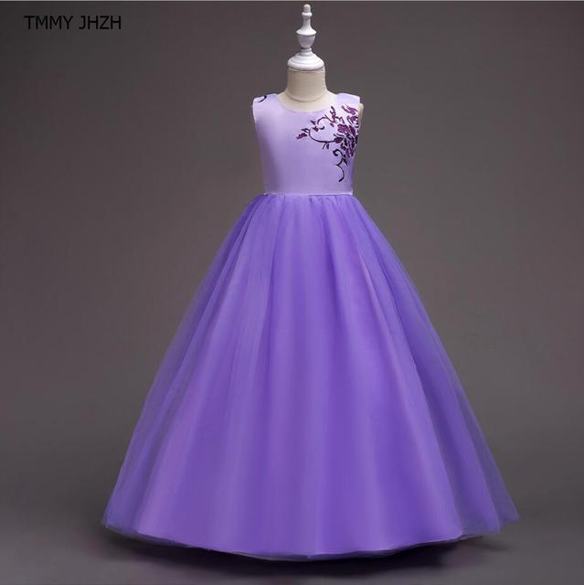 Ubrania Długo Suknia Dzieci Koronki Księżniczka Dziewczyna Sukienka