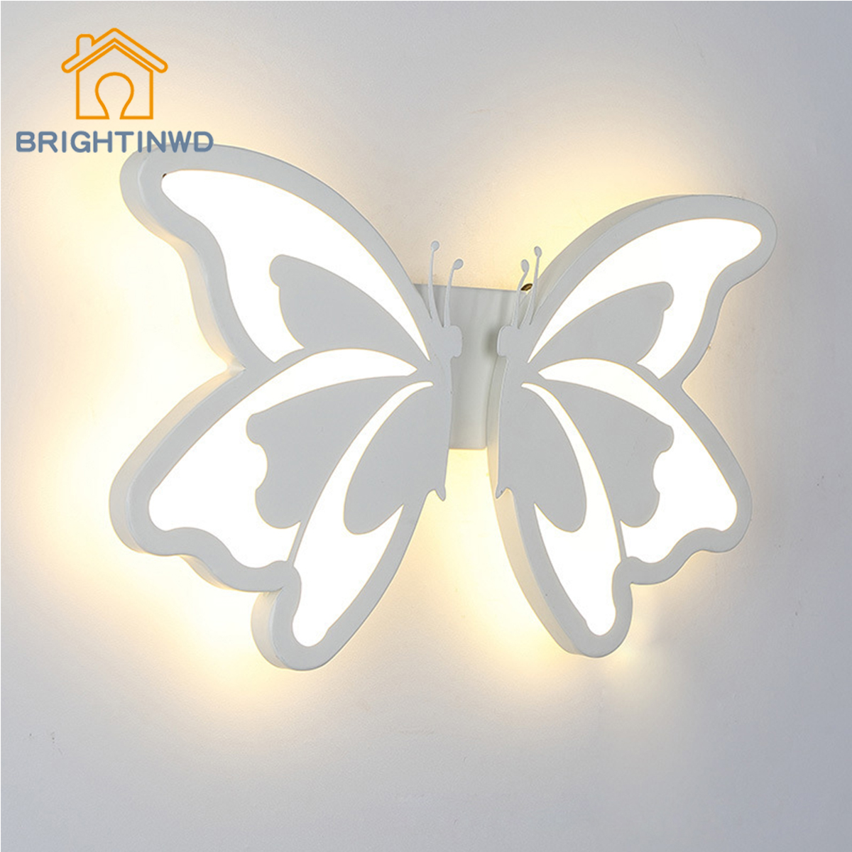 BRIGHTINWD LED Creative Butterfly Acrylic Wall Light Bedside Light Aisle Stair Wall Lighting все цены