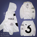 YEEZUS YEEZY Jackets Season 3 YEEZY Windbreaker Outwear Thick Palace Autumn Fashion Windbreaker Skateboard Double-deck Hoodies