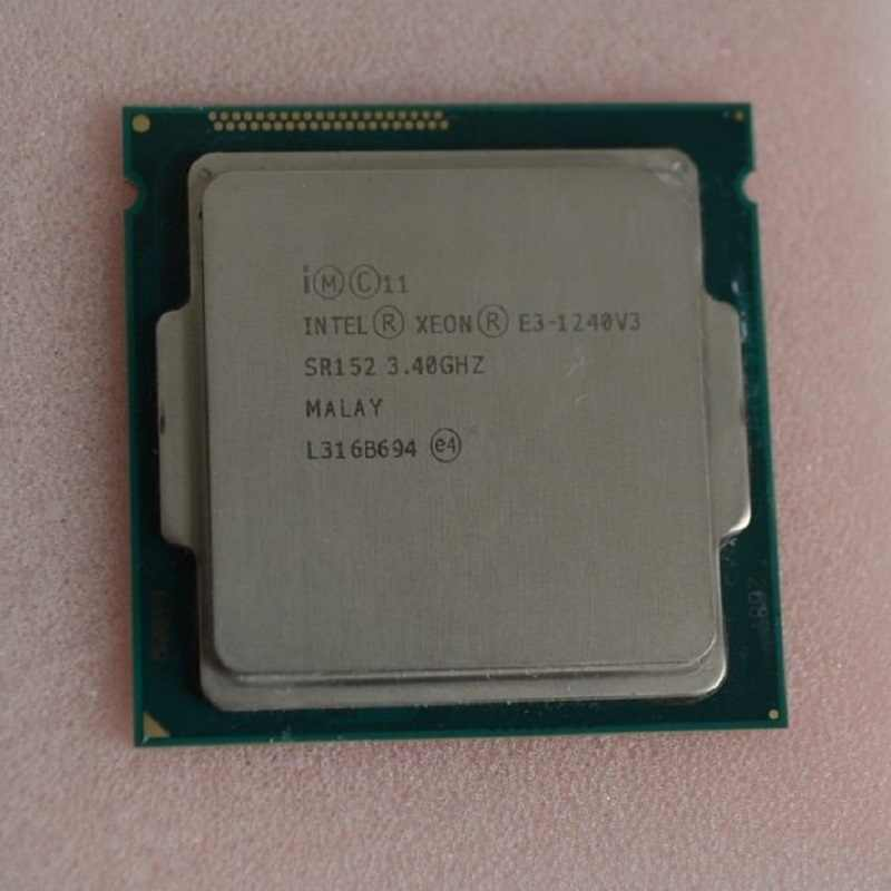 Intel Xeon E3-1240 V3 E3 1240v3 E3 1240 V3 3.4 GHz Quad-Core Eight-Thread CPU Processor 8M 80W LGA 1150