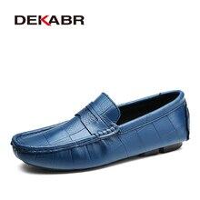 DEKABR Italian Leather Man Loafers Designer Slip On Driving Shoes Men