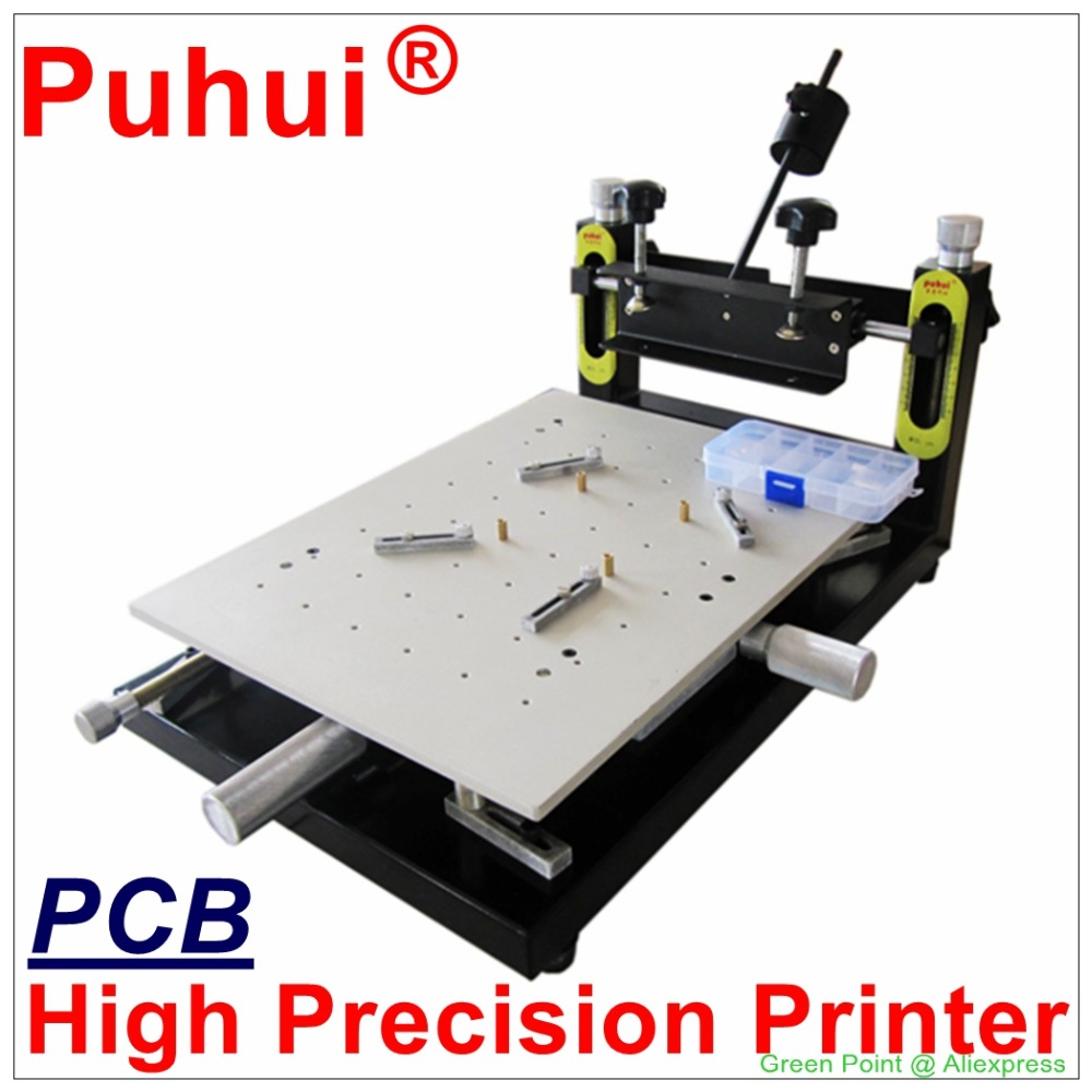 Authorized PUHUI High Precision Solder Paste Printer 300x400mm Manual Stencil Printer Silk Printing Machine