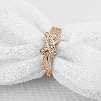 ANI 18K White Gold (AU750) Engagement Ring Natural Certified I-J/SI 0.32 CT Natural Diamond Bowknot Shape Romantic Women Rings 1