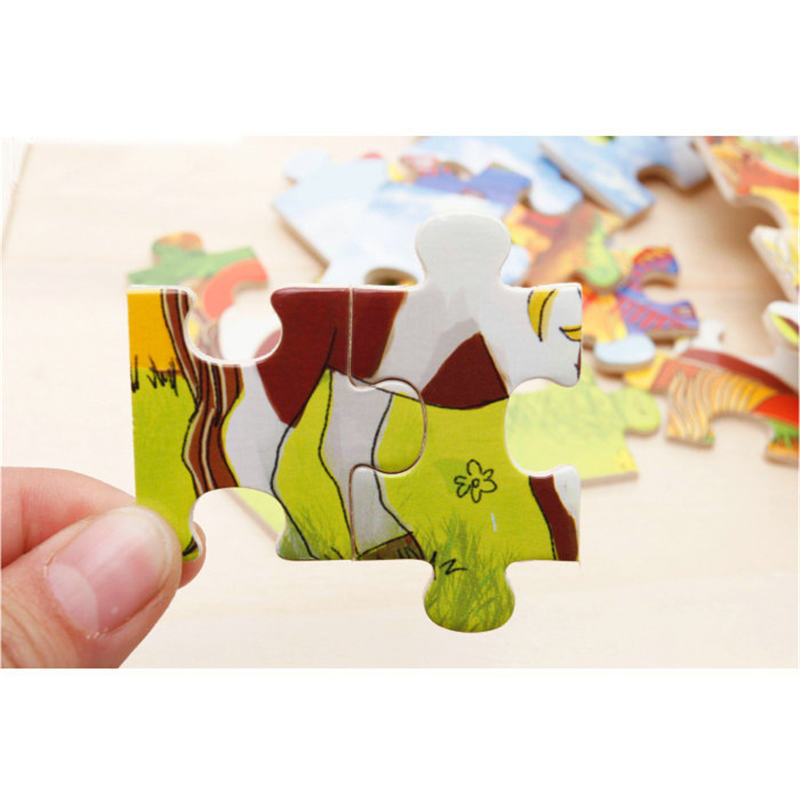 Image 5 - 60pcs Cartoon Wooden Toys 8 STYLES 3D Wooden Puzzle Jigsaw Puzzle for Child Educational Toy-in Puzzles from Toys & Hobbies