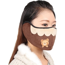 Мода Теплый Рот наушники Кофе Медведь