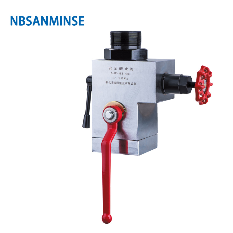 NBSANMINSE AJF  40 50 mm Safety Stopping Valve Protection Unloading for Hydraulic accumulator system