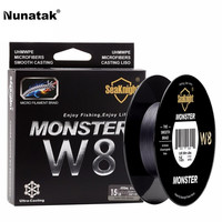 Monster W8 Multicolor 8 Strands Fishing Braid Line 300 M Wide Angle Technology Pe Lines For