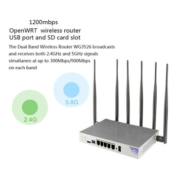 AC1200Mbps Wireless Dual Band Gigabit 3G 4G WiFi Router Wireless Router WiFi Repeater MT7621A With English Firmware
