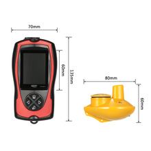 LUCKY FF1108-1CW 2.4inch LCD Wireless Fish Finder Sonar Transducer Depth Locator ICE Ocean Boat Alarm Fish Detector 100m