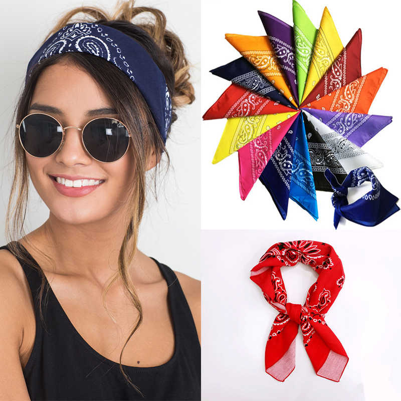 e9e36027829 Men Women Square Head Scaf Cotton Bicycle Bandanas Scarf Headwear Head Wrap  Scarves Wristband bandana foulard