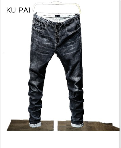 Autumn jeans male 2017 new mens cotton Slim pants pants Korean version of the wear of youth stretch trendy students pants