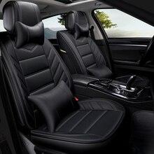 Искусственная кожа сиденья автомобиля чехлы для VW Amarok Бора CC гольф, вариант Santana T-Roc jetta 4 6 mk5 mk6 Passat Tiguan L Touareg