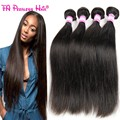 7A Russian Virgin Hair Straight 4 Bundles Silky Straight Russian Hair Virgin Russian Straight Hair Perucas Cabelo Humano Queen