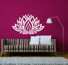 Coming Out Mandala Flower Patern Wall Stickers Home Art Special Decorative Decal Vinyl Religious Series Wallpaper W-417