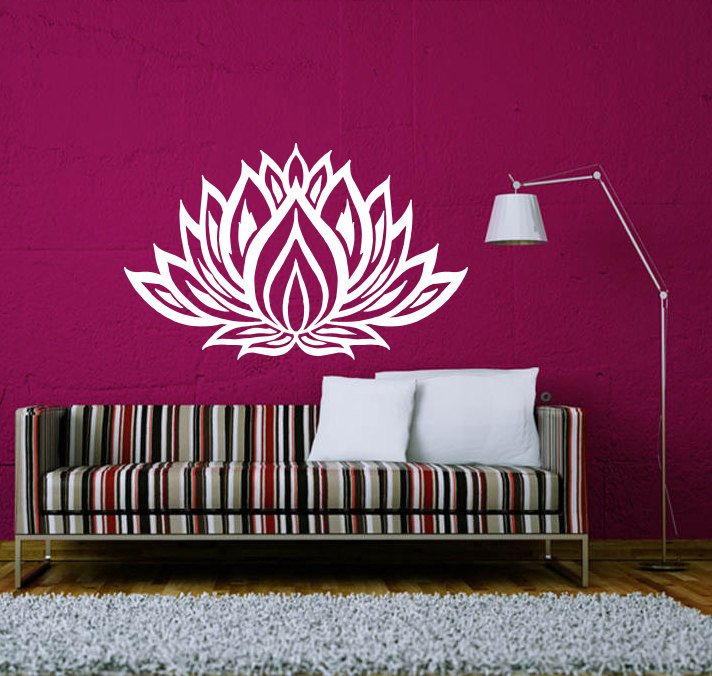 Mandala Flower Pattern Wall Stickers Home Art Special Decorative Wall Decal Vinyl Religious Series Wallpaper Home Yoga DIY W-417