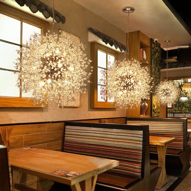 Dining Room Lighting led Pendant Lights Kitchen Modern Pendant Light Nordic Crystal Pendant Lamp Restaurant Hanging Lights Home цена