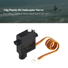 Hot 1.9g Plastic Servo for Wltoys XK A600 K100 K110 K123 K124 V977 V966 RC Helicopter Airplane Drone