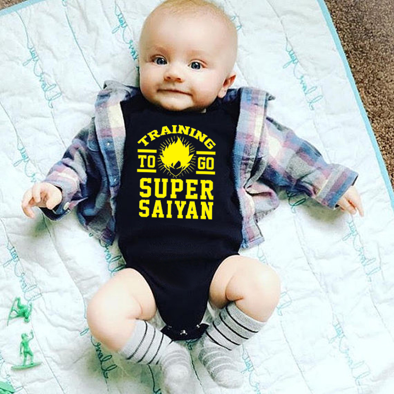 Newborn Toddler Baby Boys Girls Letter Print Simple Style Romper Jumpsuit Outfit