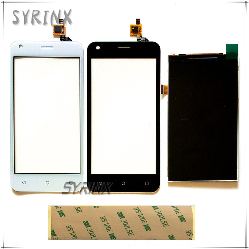 Syrinx + Tape Mobile Phone LCDs Touch Panel For Fly FS454 nimbus 8 FS 454 Touch Screen Digitizer Lcd Display Touchscreen Sensor