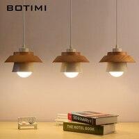 BOTIMI Japanese Simple Pendant Light For Dining Kitchen Lampadario Vintage Metal Hanging Lamp Restaurant Luminaria Light