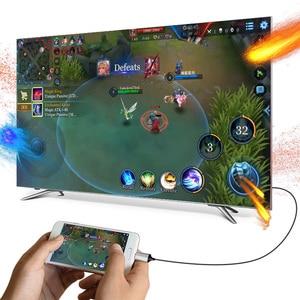 Image 4 - HOCO USB C HDMI תואם כבל סוג C כדי HDMI מתאם עבור Macbook סמסונג מקרן HDMI תואם כדי סוג C כבל