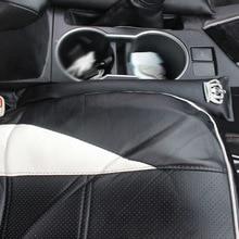 2PCS Universal Car Seat Gap Filler PU Leather Crown Rhinestones