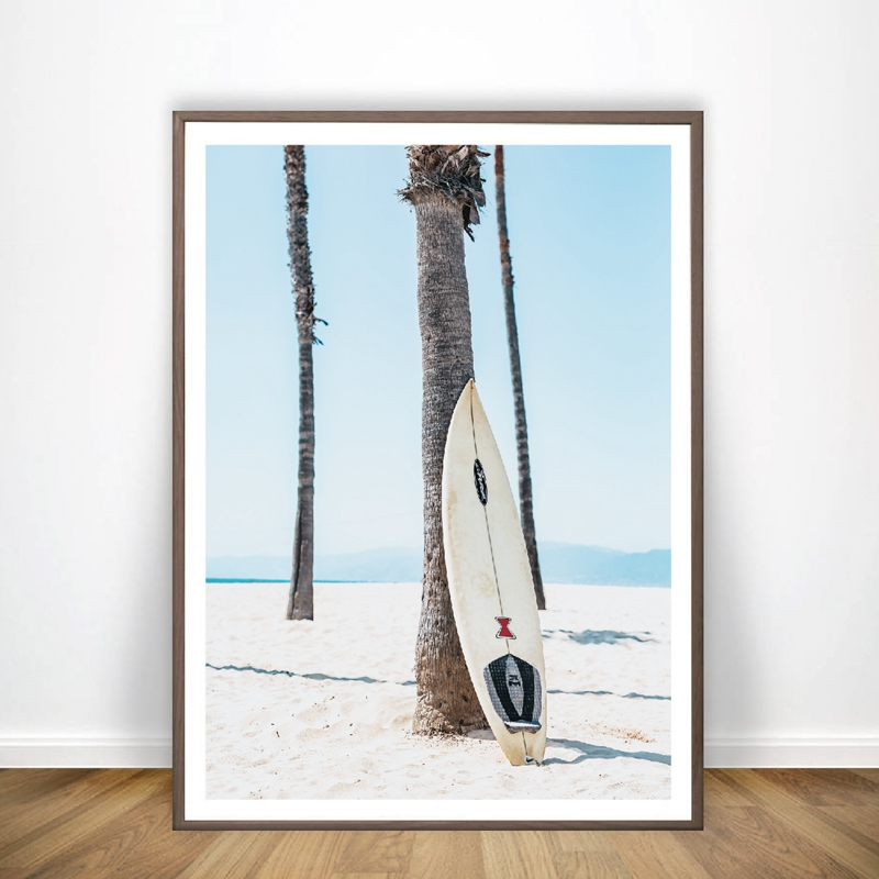 Surf Surfboard Wall Art Canvas Poster Prints Surfing Art Beach Painting Modern Photography For Living Room Home Wall Decor