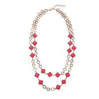 Nuovo Disegno Della Lega di Colore Dell'oro Della Catena Geometrica Grande Collana Collier Femme Shopping Online India Collana Del Collare