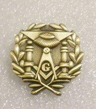 """Wholesale 1"""" Brass masonic lodge lapel pin freemasonry gift"""