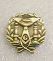 Wholesale 1 Brass masonic lodge lapel pin freemasonry gift