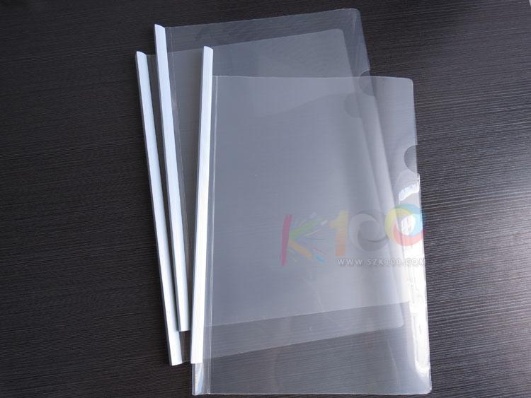 free shipping classic q310 high quality transparent clip a4 pumping lever clip rod clip file folder