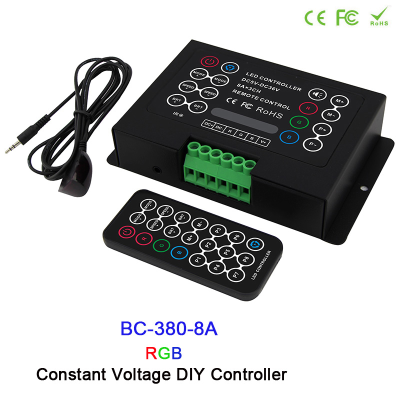 DC12V-24V 3CH CV Led RGB strip Controller 6A/8A 3CH led DIY Controller with Wireless remote for RGB led strip wash wall light good group diy kit led display include p8 smd3in1 30pcs led modules 1 pcs rgb led controller 4 pcs led power supply