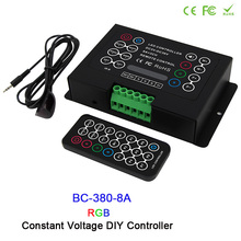 DC12V-24V 3CH CV Led RGB strip Controller 6A/8A led DIY with Wireless remote for wash wall light
