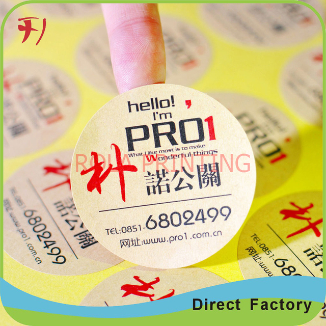 Adhesive matte label stickerscustom made tag stickers with your own design for outside package