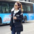Новый 2016 Толстые Женщины Куртка Плюс Размер пальто Зимние Женщины Пальто куртки Дамы Вниз Хлопка Куртки Снег Износ Мода Женский верхняя одежда