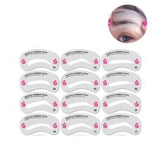 24 Pcs Reusable Eyebrow Stencil Set DIY Eye Brow Drawing Guide Styling Shaping Makeup Temp